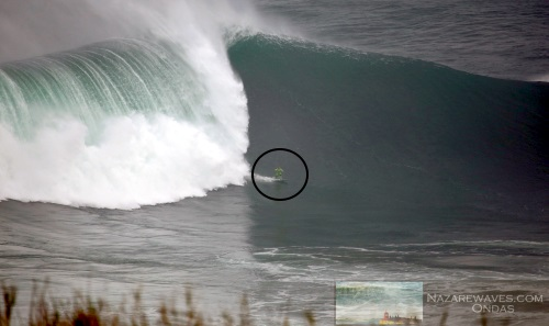 Nazaré North Canyon big wave