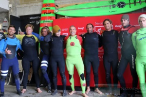 Surfers from all World at Nazaré - 23 Dec