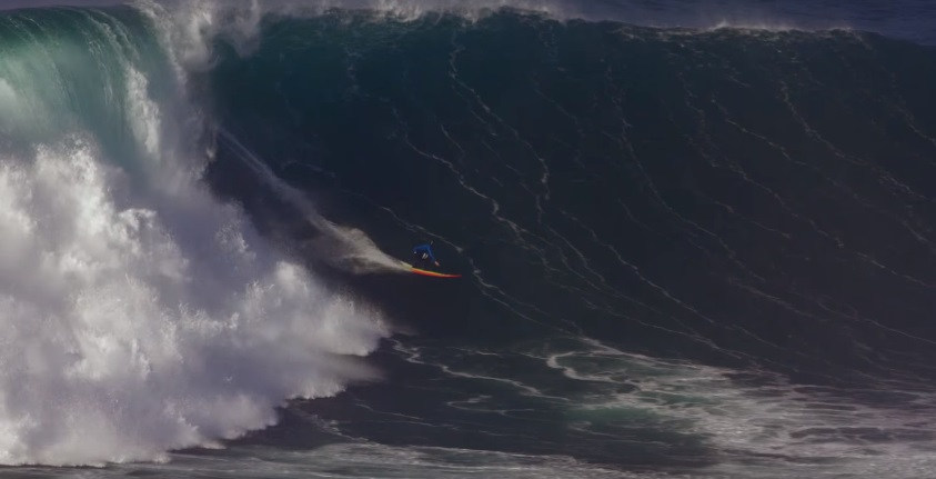 Biggest wave ever paddled Nazare