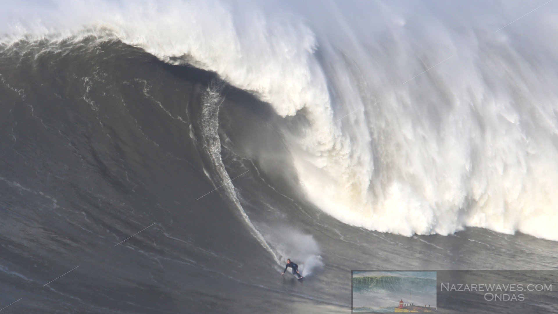 Giant wave at Nazare 19 February 2016