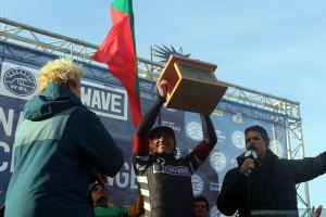 History was made in Nazaré! The 1st big wave competition at Praia do Norte