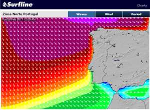 Nazaré waiting for big swell on Tuesday